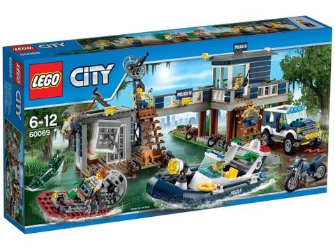Hình ảnh bên ngoài sản phẩm Lego City 60069 - Trạm Cảnh Sát Đầm Lầy