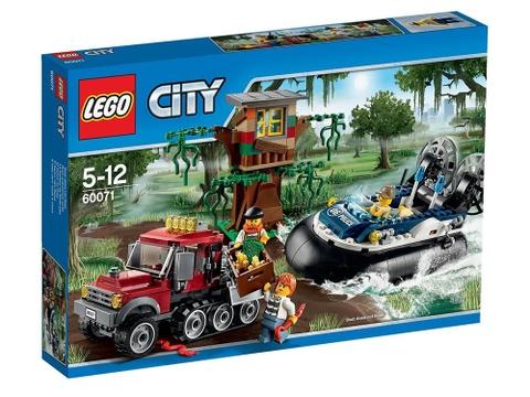 Hình ảnh bên ngoài sản phẩm Lego City 60071 - Tàu Đệm Khí Truy Bắt