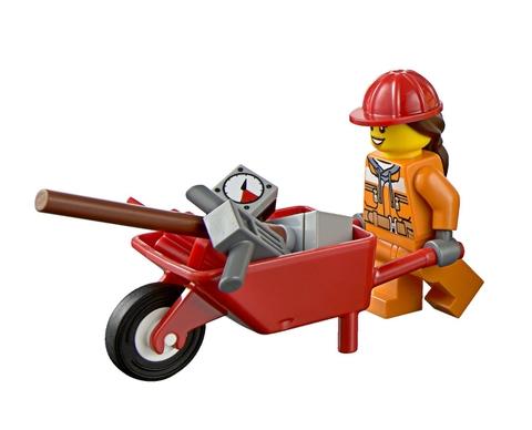Các bé được trải nghiệm công việc thực tế với Lego City 60074 - Xe Ủi