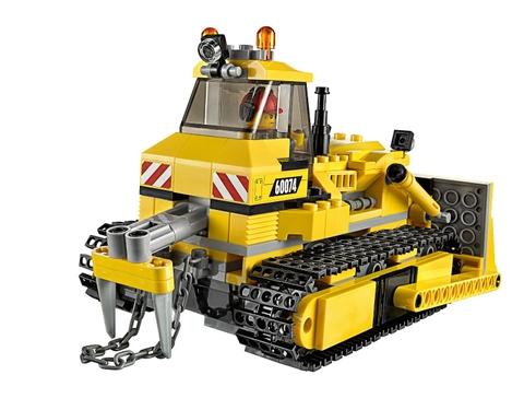 Mô hình xe ủi màu vàng sinh động trong bộ Lego City 60074 - Xe Ủi