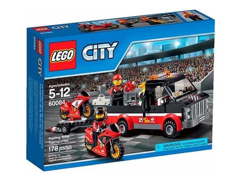 Vỏ ngoài sản phẩm Lego City 60084 - Vận chuyển xe đua