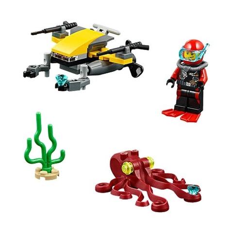 Các chi tiết trong Lego City 60090 - Xe lặn biển sâu