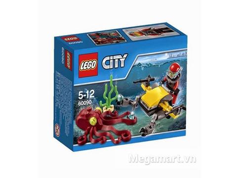 Hình ảnh vỏ ngoài của Lego City 60090 - Xe lặn biển sâu
