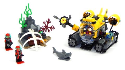 Mô hình Lego City 60092 - Tàu Ngầm Biển Sâu sau khi hoàn thành