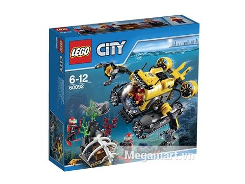 Hình ảnh vỏ ngoài của Lego City 60092 - Tàu Ngầm Biển Sâu