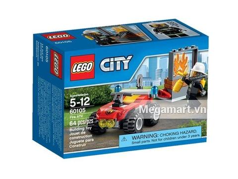 Lego City 60105 - Xe Cứu Hỏa Cơ Động Vỏ hộp