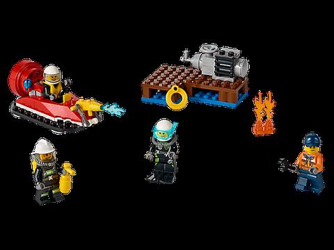 Các chi tiết có trong bộ đồ chơi Lego City 60106 - Bộ Cứu Hỏa Khởi Đầu sau khi lắp xong