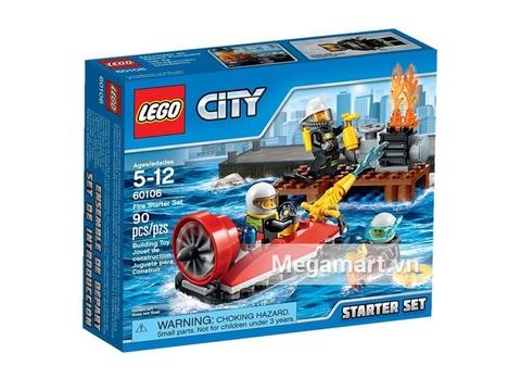 Vỏ hộp bộ sản phẩm đồ chơi Lego City 60106 - Bộ Cứu Hỏa Khởi Đầu