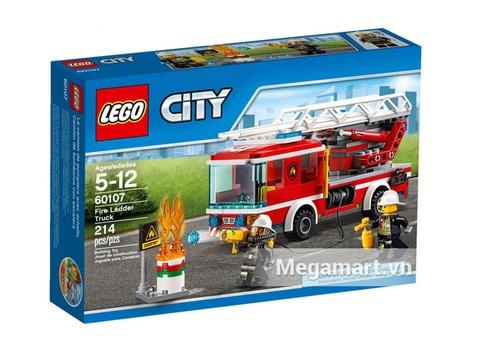 Lego City 60107 - Xe Thang Cứu Hỏa Vỏ hộp