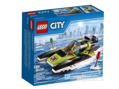 Vỏ hộp đựng Lego City 60114 - Thuyền đua
