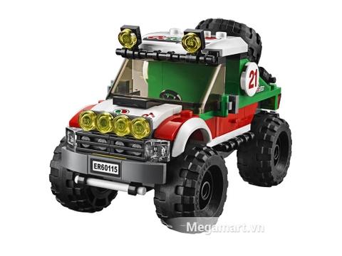 Mô hình đồ chơ Lego City 60115 - Xe đua địa hình 4x4 ấn tượng