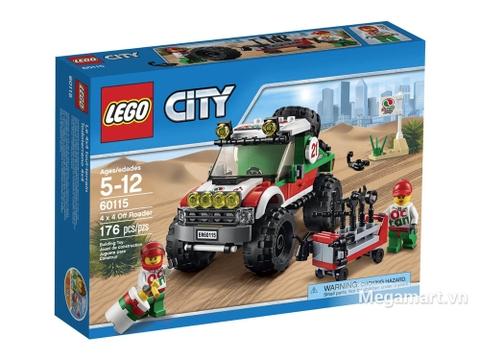 Hình ảnh vỏ hộp đựng Lego City 60115 - Xe đua địa hình 4x4