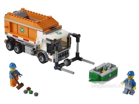 Toàn cảnh các chi tiết bộ Lego City 60118 - Xe Tải Chở Rác