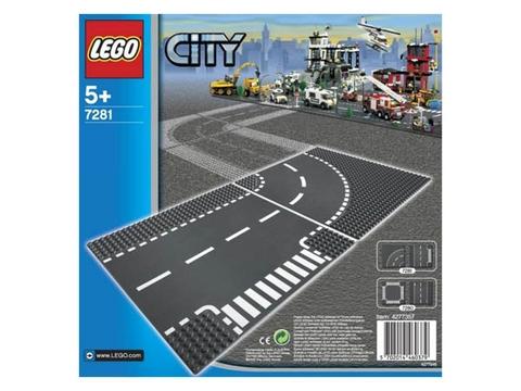 Hình ảnh bên ngoài bộ đồ chơi Lego City 7281 – Bộ 2 tấm nền đường
