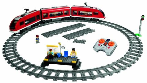 Lego City 7938 - Xe lửa hành khách, bộ đồ Lego chơi thông minh kích thích trí não
