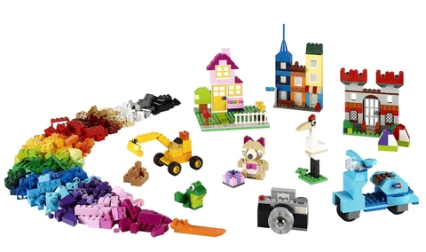 Các mô hình ấn tượng trong bộ Lego Classic 10698 - Thùng gạch lớn sáng tạo