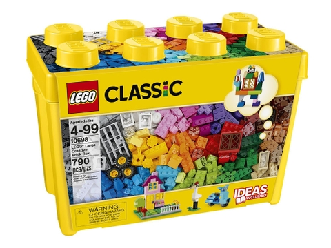 Hình ảnh vỏ hộp nhựa Lego Classic 10698 - Thùng gạch lớn sáng tạo