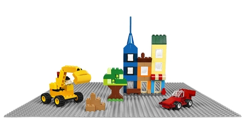 Lego Classic 10701 - Tấm nền xây dựng màu xám - Phụ kiện cho bé sáng tạo