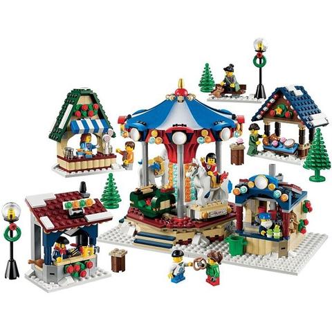 Toàn bộ chi tiết có trong bộ xếp hình Lego Creator 10235 - Chợ Làng Mùa Đông