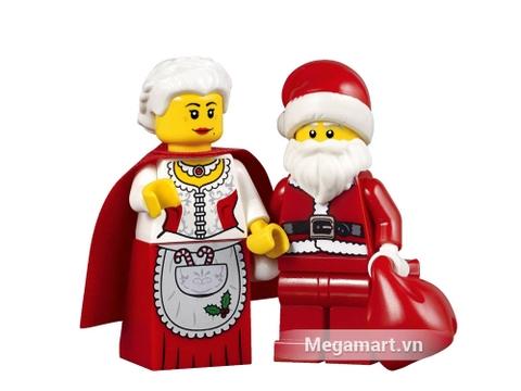 Santa Claus, Mrs. Claus - nhân vật chính của bộ sản phẩm Lego Creator 10245 - Xưởng Đồ Chơi Của Ông Già No-en dễ thương