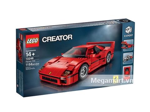 Hộp đựng thiết kế đẹp của bộ Lego Creator 10248 - Siêu xe Ferrari F40