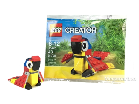 Hình ảnh bên ngoài vỏ sản phẩm Lego Creator 30472 - Vẹt Sặc Sỡ