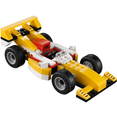 Bé hãy cùng tham gia cuộc đua với bộ đồ chơi Lego Creator 31002 - Xe Đua nhé