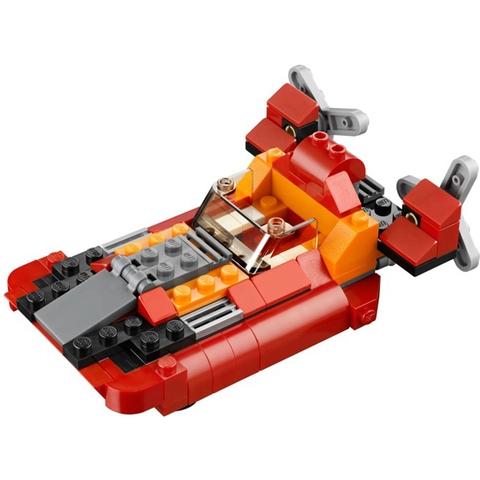 Bé còn có thê tạo tàu đệm khí với Lego Creator 31003 - Trực Thăng Đỏ