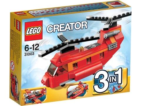 Vỏ ngoài sản phẩm Lego Creator 31003 - Trực Thăng Đỏ