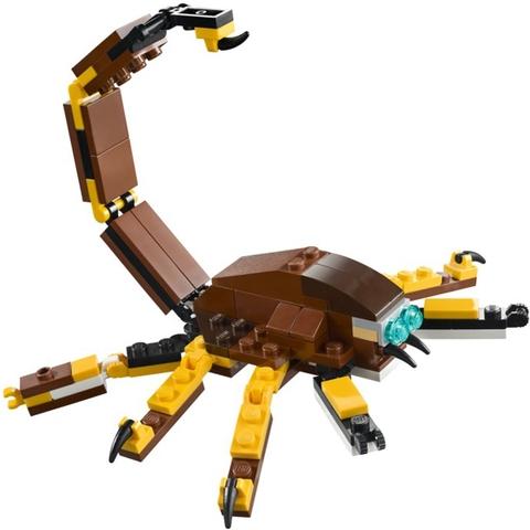 Hay bé có thể tạo ra con bọ cạp với nọc độc ở đuôi chỉ với các chi tiết Lego Creator 31004