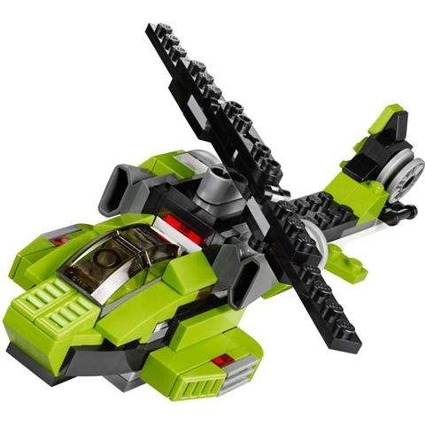 Hay chiếc máy bay trực thắng hiện đại, khả năng cơ động cao trong Lego Creator 31007 - Rô Bốt Biến Hình