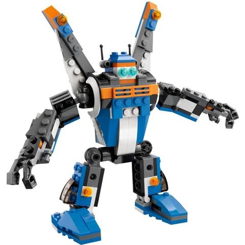 Hoặc bé có thể biến đổi Máy Bay Sấm Chớp thành chú robot dũng mãnh có thể cử động linh hoạt