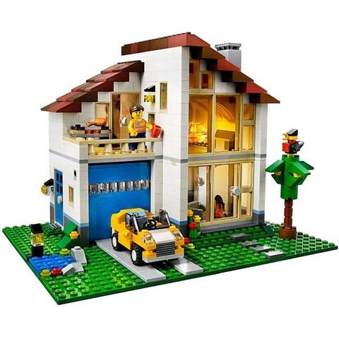 Mô hình ngôi nhà trong bộ Lego Creator 31012 - Ngôi nhà hạnh phúc thật đáng yêu phải không các bé?