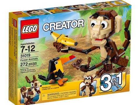 Vỏ hộp Lego Creator 31019 - Động Vật Rừng Xanh