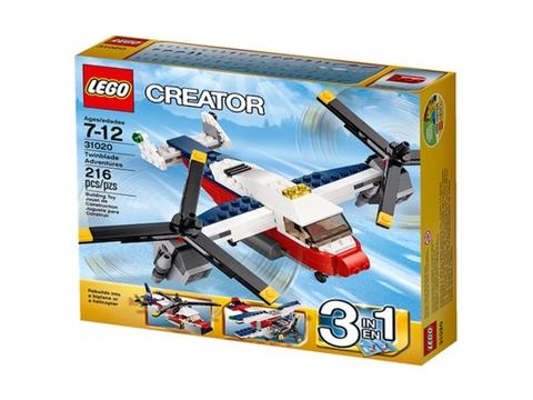 Vỏ hộp bên ngoài bộ đồ chơi Lego Creator 31020 - Máy Bay Thám Hiểm
