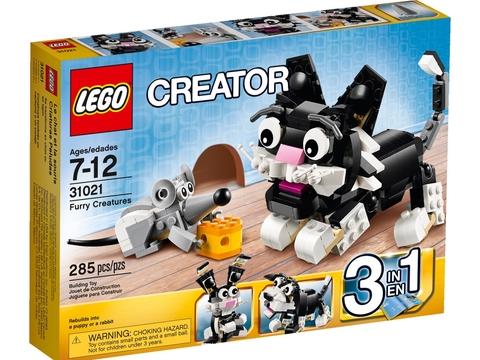 Vỏ hộp Lego Creator 31021 - Thú Nhỏ Đáng Yêu