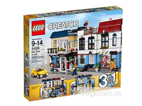 Hình ảnh vỏ ngoài sản phẩm Lego Creator 31026 - Cửa Hàng Xe Đạp và Quán Cà Phê
