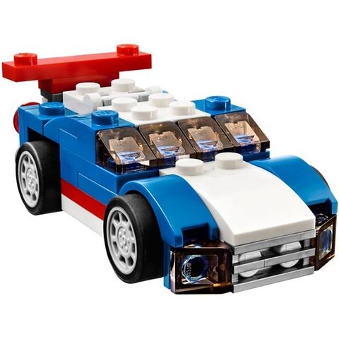 Bộ xếp hình Lego Creator 31027 - Xe Đua Xanh làm từ nhựa ABS an toàn cho bé