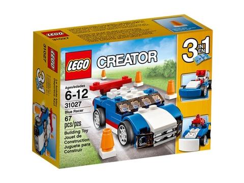 Vỏ ngoài hộp đồ chơi Lego Creator 31027 - Xe Đua Xanh