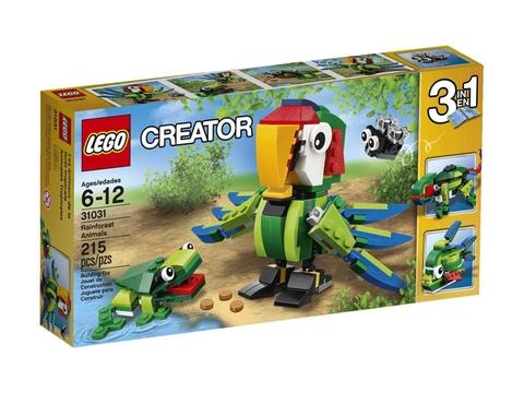 Vỏ hộp Lego Creator 31031 - Động Vật Rừng Nhiệt Đới