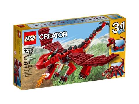 Vỏ hộp ngoài bắt mắt của bộ đồ chơi Lego Creator 31032 - Sinh Vật Huyền Thoại