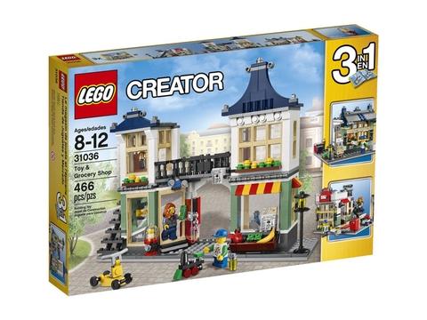 Vỏ hộp Lego Creator 31036 - Cửa hàng tạp hóa và đồ chơi