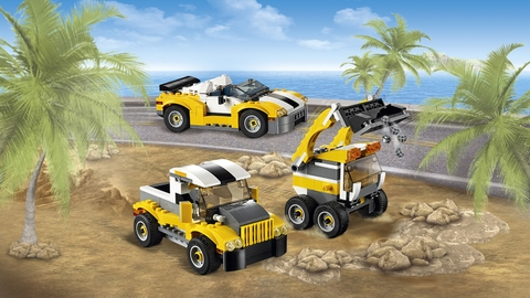 Toàn bộ các máy trong bộ ghép hình Lego Creator 31041 - Xe Công Trình Xây Dựng