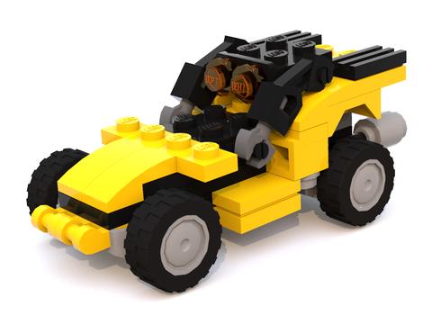 Các mảnh ghép tinh xảo của Lego Creator 31041 tạo ra chiếc xe tải hiện đại