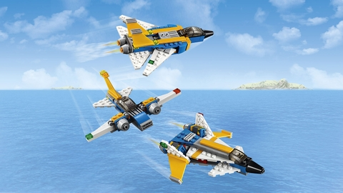 Lego Creator 31042 - Siêu Máy Bay Phản Lực - bộ 3 siêu máy bay phản lực