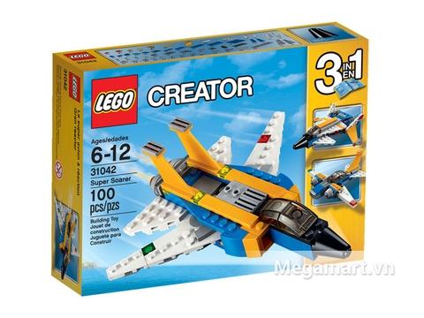 Vỏ hộp Lego Creator 31042 - Siêu Máy Bay Phản Lực