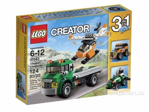 Hình ảnh vỏ hộp bộ Lego Creator 31043 - Xe vận chuyển trực thăng