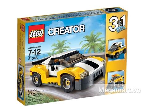Vỏ hộp Lego Creator 31046 - Siêu Xe Đua