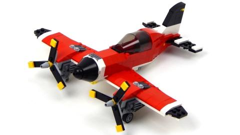 Lego Creator 31047 - Máy Bay Cánh Quạt - tông màu đỏ tươi sáng