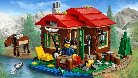 Bộ xếp hình Lego Creator 31048 - Trạm Gác Ven Hồ thú vị